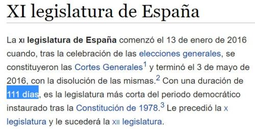 111 dias legislatura