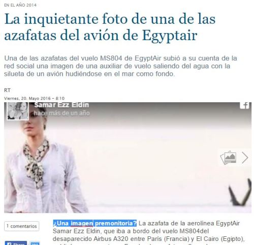 azafata avion egyptair mar