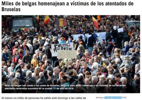 bruselas homenajes