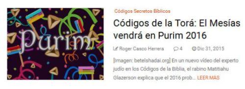 codigo secreto biblico codigo de la tora judaismo anuncia llegada del mesias en purim 23 marzo 2016