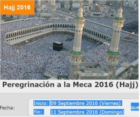 hajj 2016 del 9 a 11 septiembre