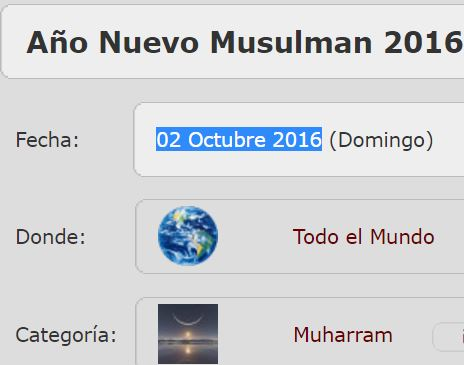 inicio año musulman 2 octubre 2016