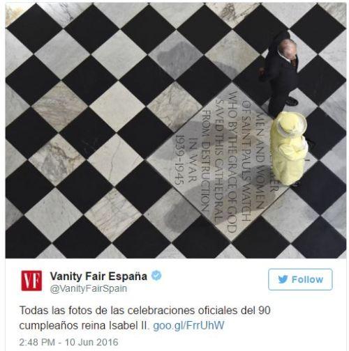 isabel ii 90 cumple suelo ajedrezado