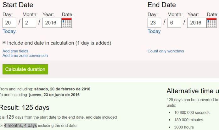 4 meses y 4 días antes convocatoria referendum