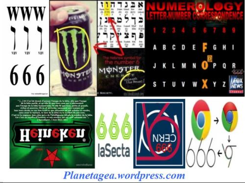 666 internet, google, cern, sexta, heineken, fox, monster