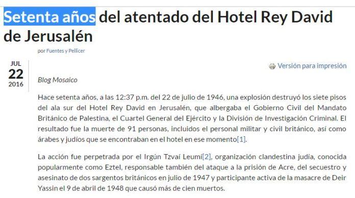 70 años atentado hotel rey david