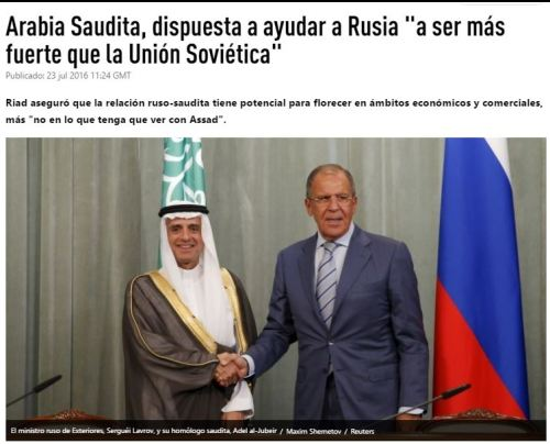 arabia saudi rusia