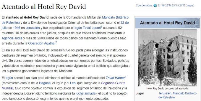 atentado hotel rey david