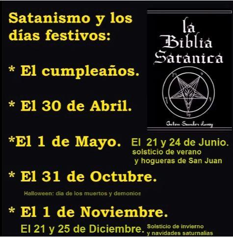dias festivos y el satanismo