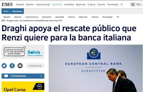 dragui apoya rscate banca italia