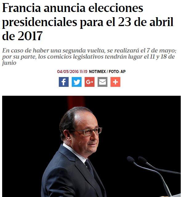 eecciones frncia 23 abril 2017