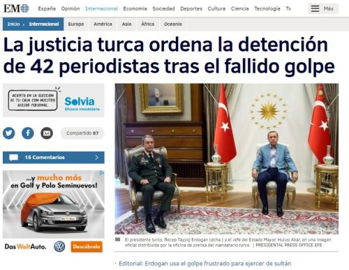 erdogan periodistas golpe