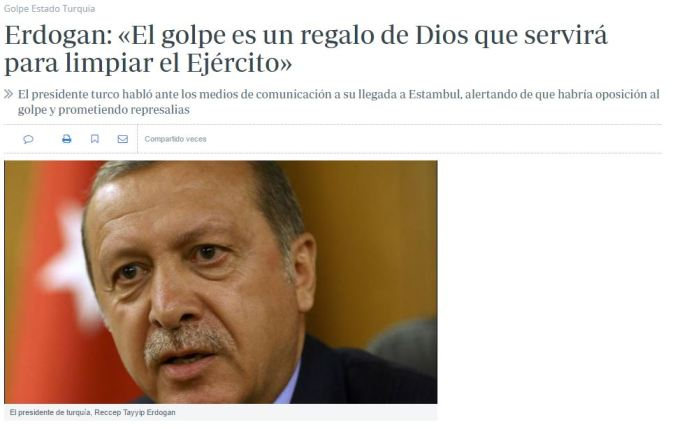 erdogan regalo de dios golpe de estado