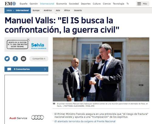 manuel valls isis guerra civil francia