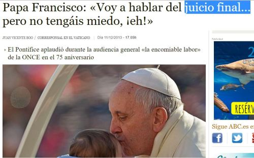 papa francisco juicio final