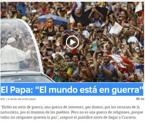 papa mundo guerra