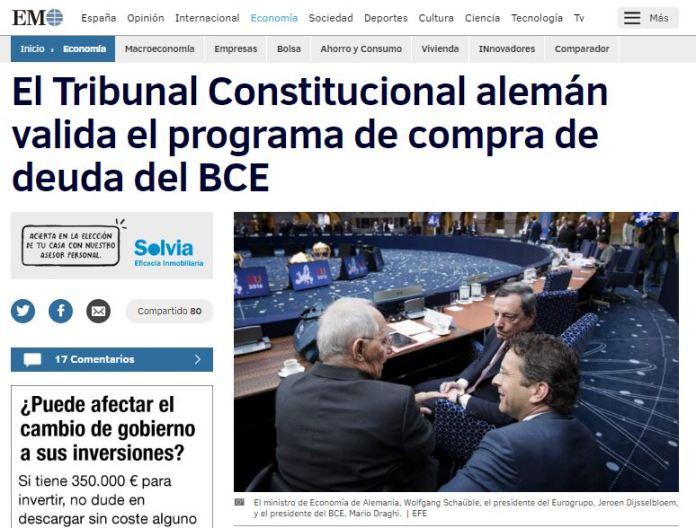 tribunal constitucional aleman valida compra bonos bce