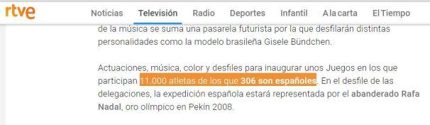 11 mil atletas y 306 españoles