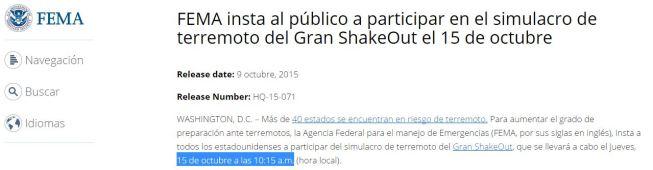 15-10-15 fema simulacro terremoto
