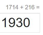 1714 + 216 = 1930