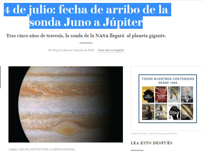 4 JULIO JUNO-JUPITER
