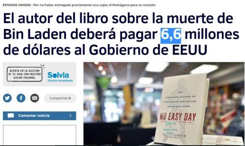 6.6 millones autor libro muerte bin laden