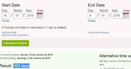 9-10-16 dia 360 desde 16-10-15