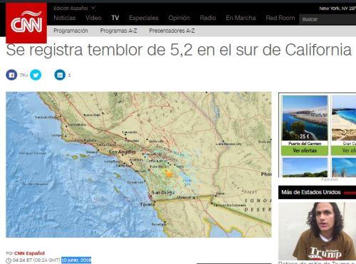 9-10-16 terremoto 5.2 en california 121 dias