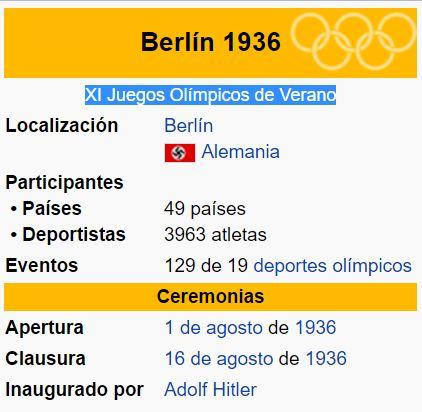 alemania xi olimpiadas
