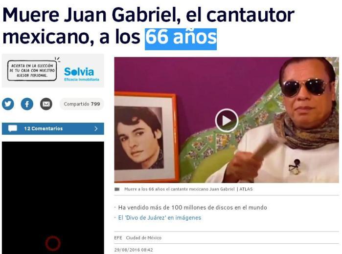 cantante mexicano 66 años california