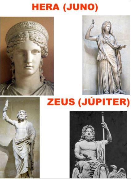 hera-juno júpiter-zeus