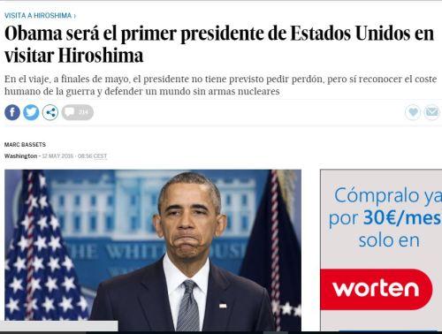 obama primer presidente hiroshima