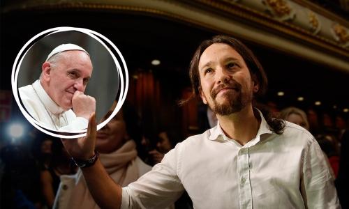 pablo-iglesias-y-el-papa-francisco