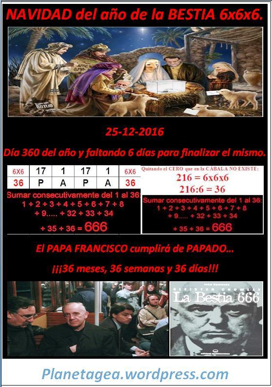 papa francisco navidad 2016 36-36-36 la bestia-anticristo
