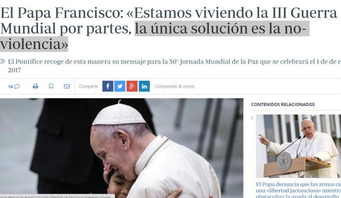 papa frncisco iii gm no violencia