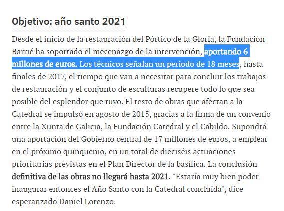 reforma portico catedral santiago apocalipsisi objtivo año sant 2021