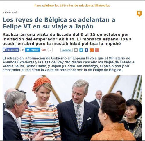 reys belgica japon 9 al 15 octubre