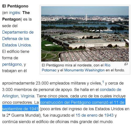 11-09-1941 pentagono 60 años despues atacado