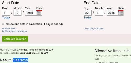 11-12-15 final cop21 hasta firma acuerdo 22-4-16 133 dias