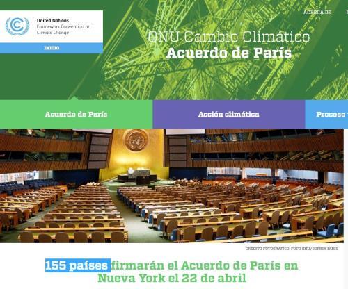 155 paises onu acuerdo clima 22-4-16