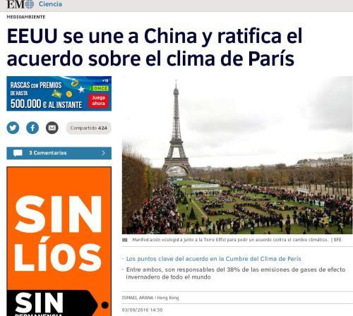CHINA EEUU ACUERDO CLIMATICO