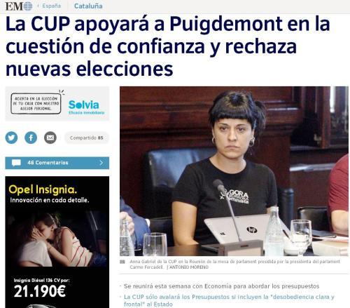 cup apoyara a puigdemont