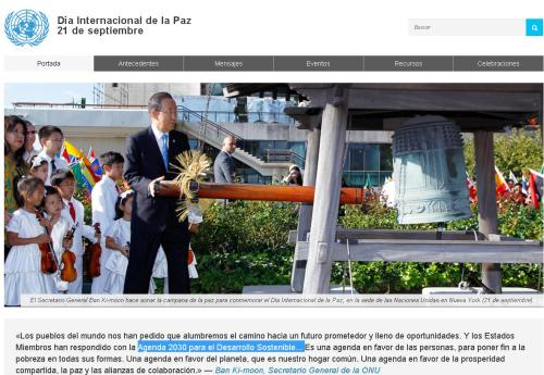 onu 21-09 dia paz desarrollo sostenible agenda 2030
