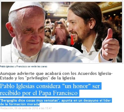 papa fco pablo iglesias es un honor