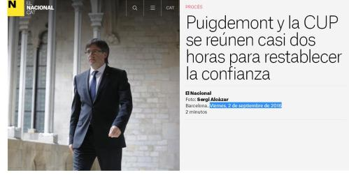 PUIGDEMONT Y CUP REUNION 2-09-16