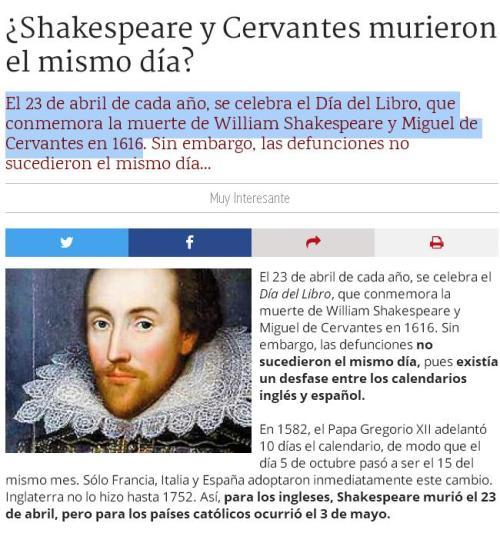 shakespeare cervantes 23 abril