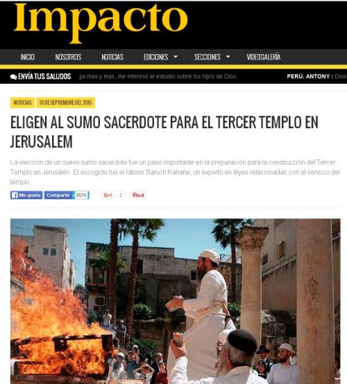 sumo sacerdote para tercer templo jerusalen