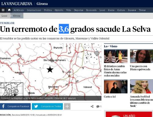 terremoto 3,6 gerona