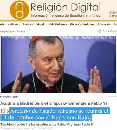 secretario-estado-vaticano-rajoy-felipe-vi-14-10-16