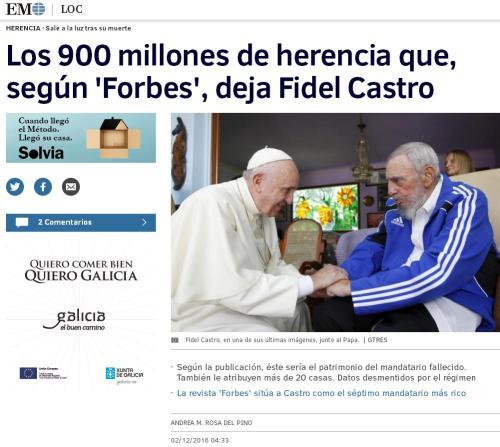 fidel-castro-900-millones-forbes